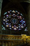 St Vitus Cathedral stain glass window Stock Photos
