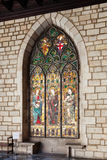 Stained-glass window in interior of Ajuntament de Barcelona Stock Photography