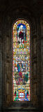 Stained glass window from Jeronimos church in Lisbon, Portugal Stock Photography