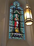 Stained Glass Window Of Jesus Royalty Free Stock Photos