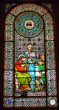 Stained Glass Window Jesus Mary Cana Monastery Montserrat Stock Photo