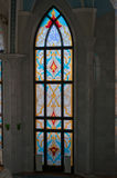 Stained-glass window in Kul Sharif mosque in Kreml Stock Image
