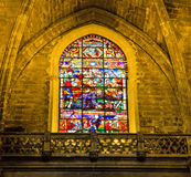 Stained-glass window in La Giralda, Seville Stock Image