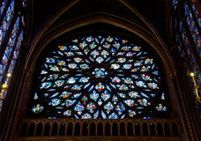 Stained glass window in La Sainte-Chapelle Royalty Free Stock Photo