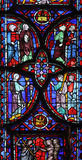 Stained glass window in La Sainte-Chapelle in Paris Royalty Free Stock Image