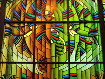 Stained glass window, Lithuania Royalty Free Stock Images