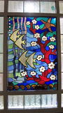 Stained glass window, Lithuania Royalty Free Stock Photo