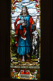 Stained glass window The Lord is my Shepherd Royalty Free Stock Photo