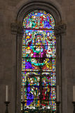 Stained glass window of Lucca Cathedral. Mosaic window of Cattedrale di San Martino. Tuscany. Italy. Stock Image