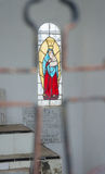Stained glass window of Mary Royalty Free Stock Image