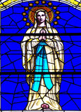 Stained glass window with Mary Royalty Free Stock Photo