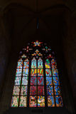 Stained glass window of the Metropolitan Cathedral of Saints Vitus Royalty Free Stock Photo