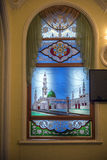Stained glass window in the mosque Royalty Free Stock Photography