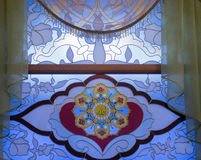 Stained glass window in the mosque Royalty Free Stock Image