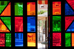 Coloured Stained Glass Window Stock Image