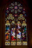 Stained Glass Window of Nativity of Christ Royalty Free Stock Photo