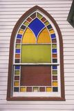 A stained glass window in a New England Church Stock Image