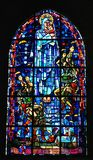 Stained glass window in Normandy Royalty Free Stock Photos