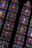 Stained Glass Window, Notre Dame Cathedral, Paris Royalty Free Stock Photos