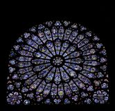 Stained Glass Window Of Notre Dame, Paris Royalty Free Stock Image