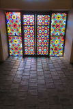 Stained-glass window in The Palace of Shaki Khans Stock Photo