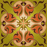 Stained glass window with pattern in modern style.  Royalty Free Stock Image