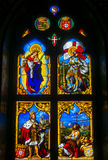 Stained glass window from Pena National Palace, Portugal Stock Image