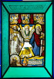 Stained glass window from Pena National Palace, Portugal Stock Images