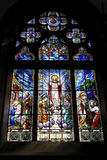 Stained Glass Window Petropolis Cathedral stock image