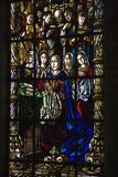Stained glass window in Portugal. Stock Image