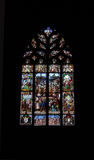 Stained Glass Window, Quimper, Brittany. Royalty Free Stock Photo