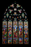 Stained glass window representing the Death and Resurrection of Jesus Royalty Free Stock Image