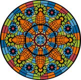 Stained-glass window - rosette Stock Image