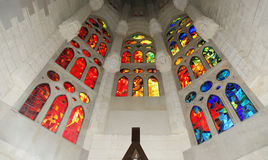 Stained glass window, Sagrada Familia Stock Photos