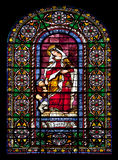 Stained glass window of Saint Elizabeth Stock Photos