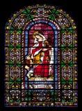 Stained glass window of Saint Elizabeth Stock Photos
