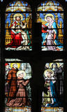 Stained glass window in Saint-Eustache church, Paris. France Stock Photo