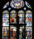 Stained glass window in Saint-Eustache church in Paris. Stained glass window in Saint-Eustache church, Paris, France Stock Photography