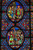 Stained-glass window in saint gatien Stock Photo
