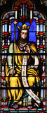 Stained glass window from Saint Germain l`Auxerrois church, Paris Royalty Free Stock Photos