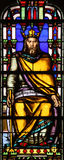 Stained glass window from Saint Germain-l`Auxerrois church, Paris Royalty Free Stock Image