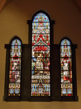 Stained glass window in Saint-Gery Church, Belgium Stock Photography
