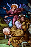 Stained glass window of Saint Joseph Church Royalty Free Stock Photo