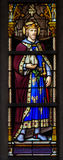Stained glass window of Saint Leopold III Stock Photography
