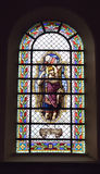 Stained glass window in Saint-Martin Church Stock Photography