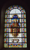 Stained glass window in Saint-Martin Church Royalty Free Stock Image