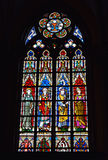 Stained glass window in Saint-Martin's Church Royalty Free Stock Images