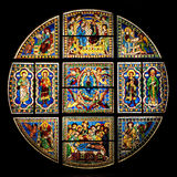 Stained-glass window in Siena Cathedral (duomo). Stained-glass window in Siena Cathedral (duomo - toscana - italy stock photography