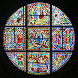 Stained-glass window of Siena Cathedral, Italy Stock Photo