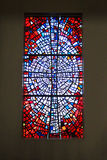 Stained glass window in Skalholt Cathedral in Iceland Stock Photo